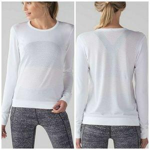 Lululemon Breeze By Long Sleeve White sz 10 / L